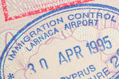Passport stamp Cyprus Royalty Free Stock Photos