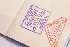 Passport Stamp. With the detail royalty free stock photography