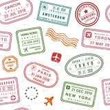 Passport stamp texture Stock Photos