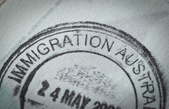Passport stamp for travel concept Royalty Free Stock Photo