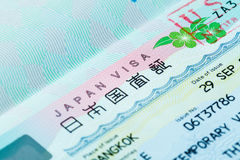 Passport stamp for travel concept Stock Image