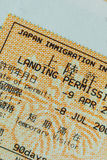Passport stamp visa of japan for travel concept Royalty Free Stock Image