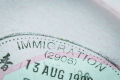 Passport stamp visa for travel concept Stock Photo
