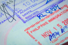 Passport stamp visa for travel concept Stock Photography