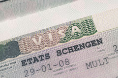 Passport stamp visa for travel concept background, Paris France Royalty Free Stock Photography