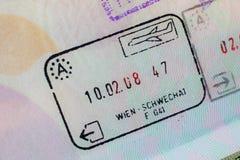 Passport stamp visa for travel concept background, Paris France Royalty Free Stock Images