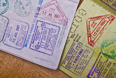 Free Passport Stamps Royalty Free Stock Photo - 10388105