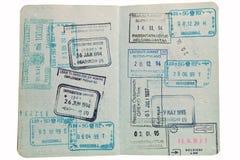 Passport stamps. Stock Image