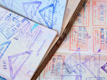 Passport with stamps Stock Image