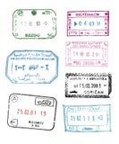 Passport stamps stock image