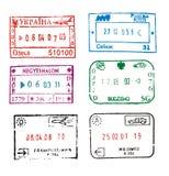 Passport stamps vector illustration