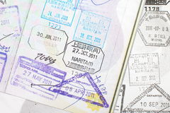 Passport stamps Royalty Free Stock Photography