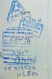Passport stamps, Kenya. Passport entry, departure stamps, Kenya Royalty Free Stock Photo