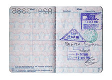 Passport Stamps Stock Image