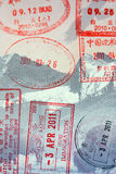 Passport Stamps. US Passport Stamps Travel to HK and China Stock Photography