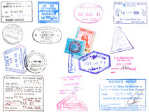 Passport stamps and visa's stock illustration