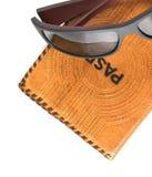 Passport and sunglasses Stock Image