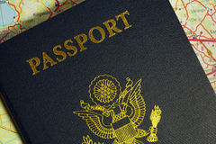 Passport with the symbols of the United States of America. Royalty Free Stock Photos