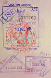 Passport with thai visa and stamps Royalty Free Stock Images