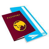 Passport with tickets Stock Images