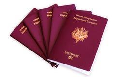 Passport to travel stock image