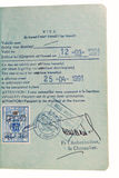 Passport - transit visa stamp. Benelux transit visa stamp in passport Royalty Free Stock Image