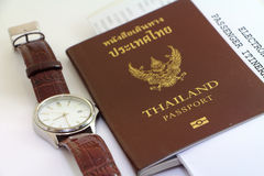 Passport and travel business Stock Image