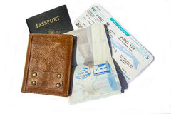 Passport and Travel Documents Stock Photo