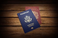 Passport. Travel Exoticism French Culture Backgrounds Document USA Royalty Free Stock Image