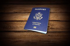 Passport. Travel Exoticism French Culture Backgrounds Document USA Stock Images