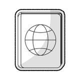 Passport travel icon image Royalty Free Stock Photography