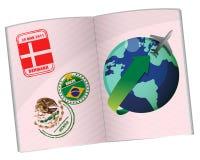Passport travel illustration design Royalty Free Stock Photo