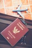 Passport, Travel or turism concept. Thai Passport, Travel or turism concept royalty free stock photography