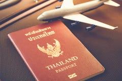 Passport, Travel or turism concept. Thai Passport, Travel or turism concept royalty free stock images