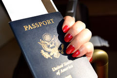 Passport. When traveling between different countries, a passport is required to gain access and the country`s borders Royalty Free Stock Photo