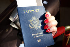 Passport. When traveling between different countries, a passport is required to gain access and the country`s borders Stock Photography