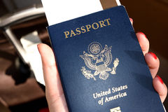 Passport. When traveling between different countries, a passport is required to gain access and the country`s borders Royalty Free Stock Photography