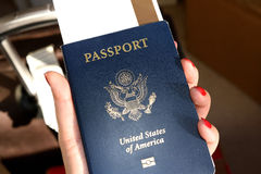 Passport. When traveling between different countries, a passport is required to gain access and the country`s borders Royalty Free Stock Image