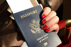 Passport. When traveling between different countries, a passport is required to gain access and the country`s borders Royalty Free Stock Photos