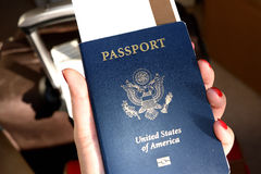 Passport. When traveling between different countries, a passport is required to gain access and the country`s borders Stock Images