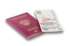 Passport and the Turkish Lira Stock Photography