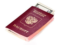 Passport and US dollars Royalty Free Stock Photo