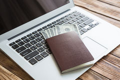 Passport with us dollars Stock Photography