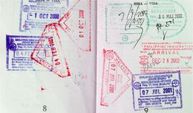 Passport Visa Stock Images