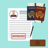 Passport, visa. Passport icon. Flat design, illustration stock illustration