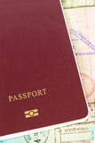 Passport and visa immigration Royalty Free Stock Photography