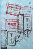 Passport Visa Stamps (Asia). Sort of visa stamps in a passport: Hong Kong, China Stock Photography