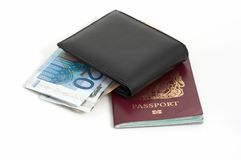 Passport and wallet Stock Photo