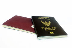The passport on the white background Stock Photo