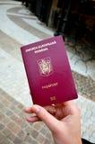 New passport model Royalty Free Stock Image